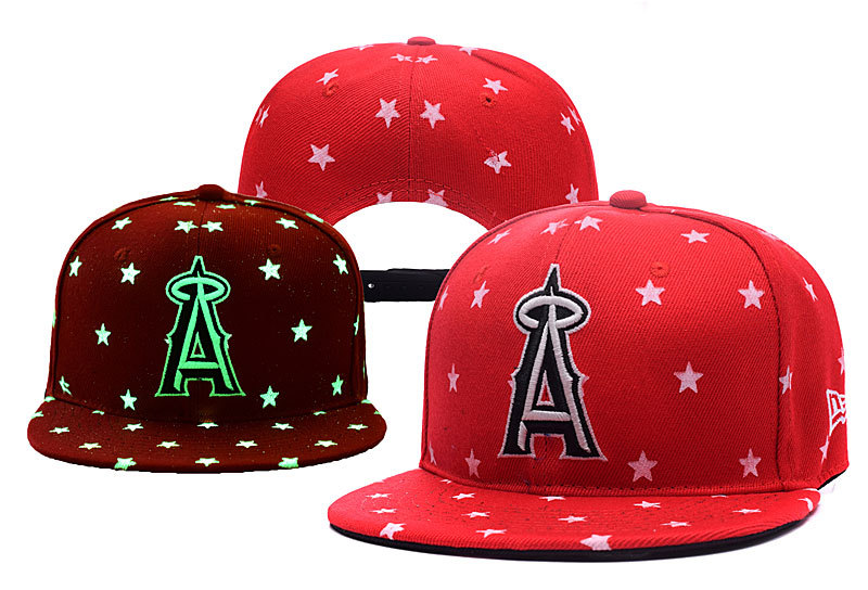 Angels Team Logo Red Adjustable Luminous Hat YD