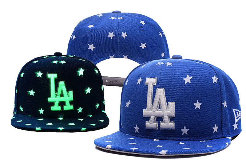 Dodgers Team Logo Blue Adjustable Luminous Hat YD
