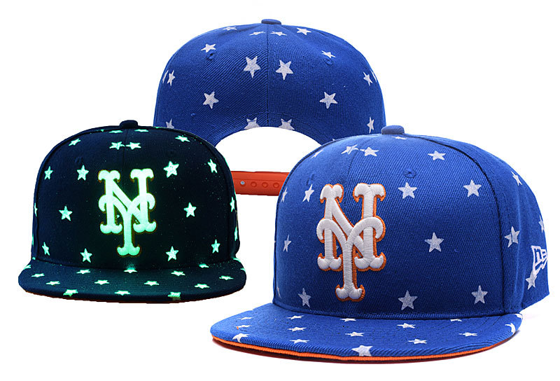 Mets Team Logo Blue Adjustable Luminous Hat YD