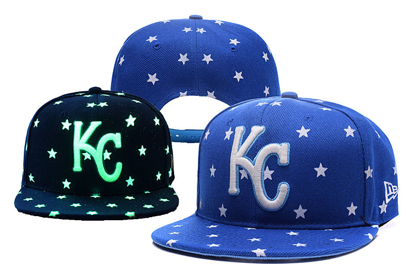 Royals Team Logo Blue Adjustable Luminous Hat YD