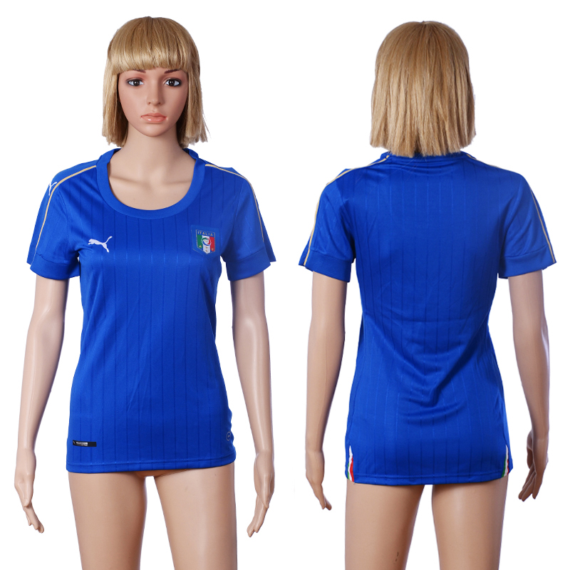 Italy Home Women UEFA Euro 2016 Soccer Jersey