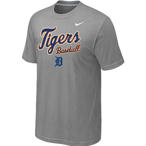 Nike MLB Detroit Tigers 2014 Home Practice T-Shirt Lt.Grey