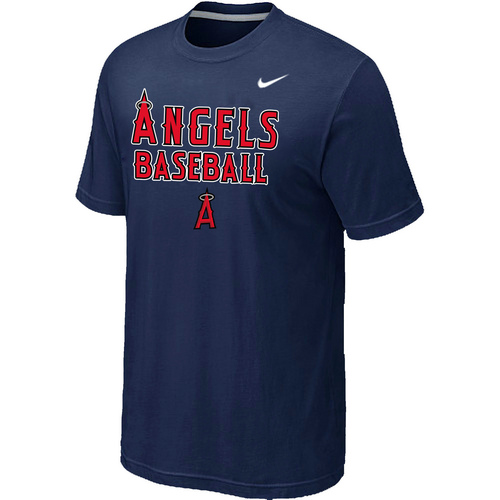 Nike MLB Los Angeles Angels 2014 Home Practice T-Shirt D.Blue