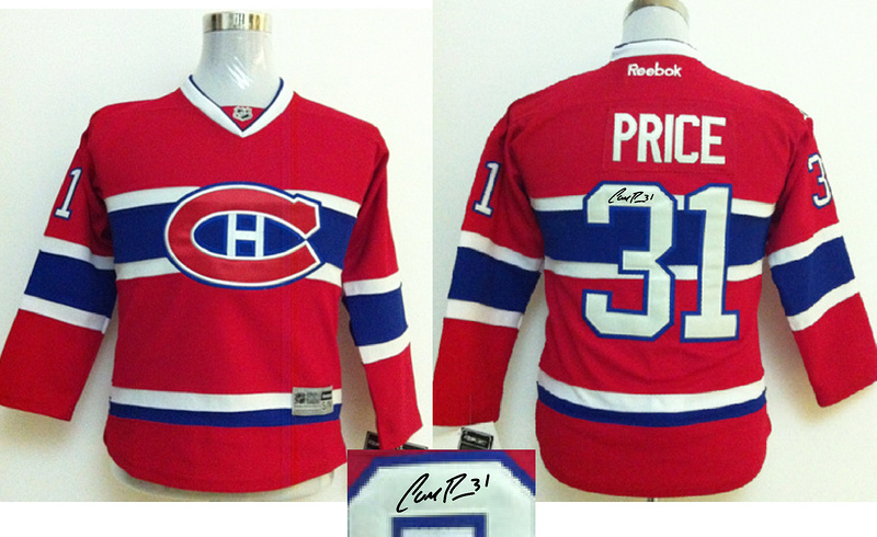 Canadiens 31 Price Red Signature Edition Youth Jerseys