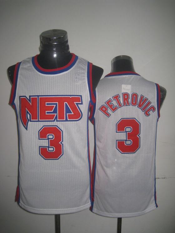 Nets 3 Petrovic White New Revolution 30 Jerseys