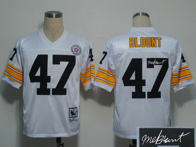 Steelers 47 Blount Throwback Signature Edition Jerseys