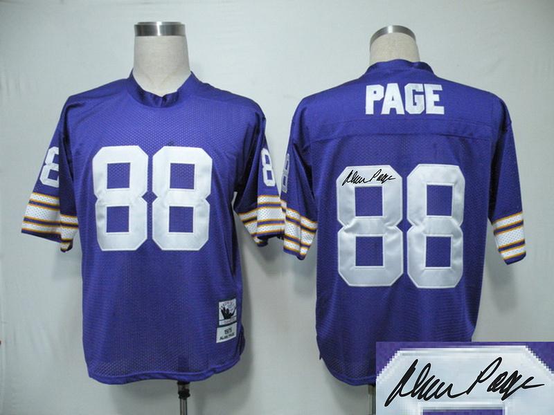 Vikings 88 Page Purple Throwback Signature Edition Jerseys