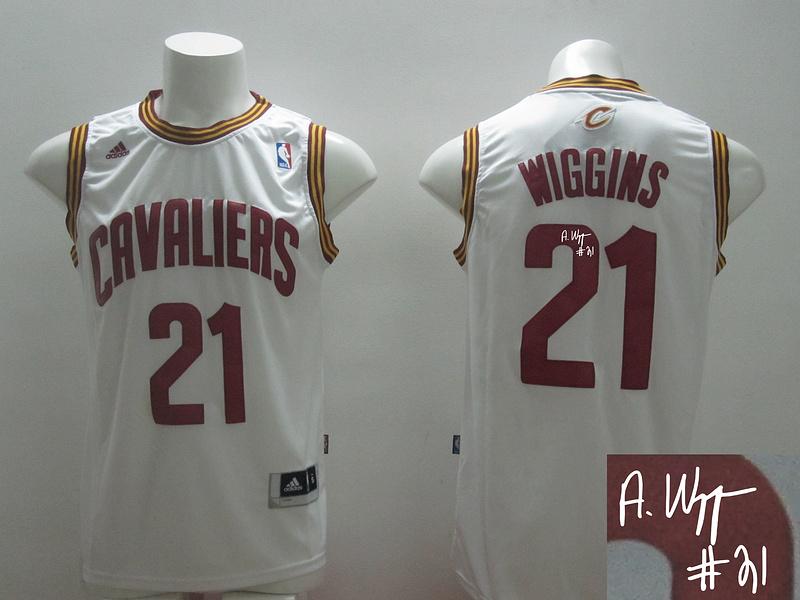 Cavaliers 21 Wiggins White New Revolution 30 Signature Edition Jerseys