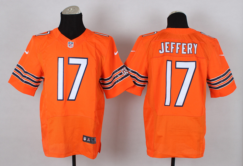 Nike Bears 17 Jeffery Orange Elite Jerseys