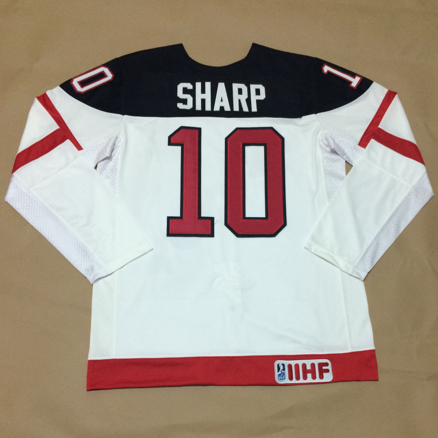 Canada 10 Sharp White 100th Celebration Jerseys