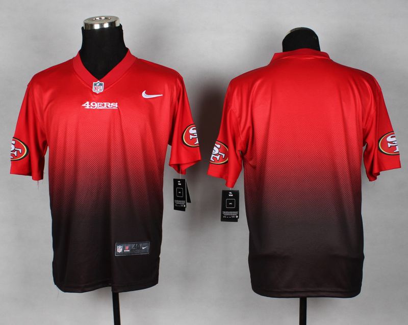 Nike 49ers Red And Black Drift II Elite Custom Jerseys
