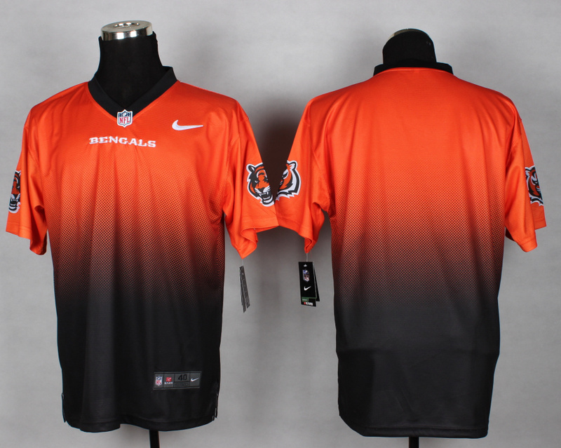 Nike Bengals Orange And Black Drift II Elite Custom Jerseys