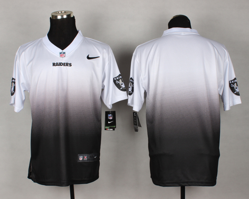 Nike Raiders White And Black Drift II Elite Custom Jerseys