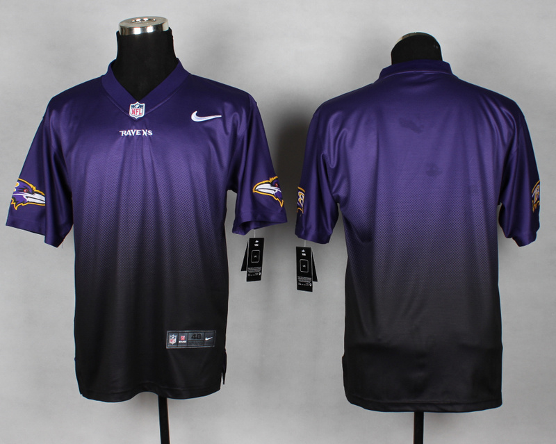Nike Ravens Purple And Black Drift II Elite Custom Jerseys