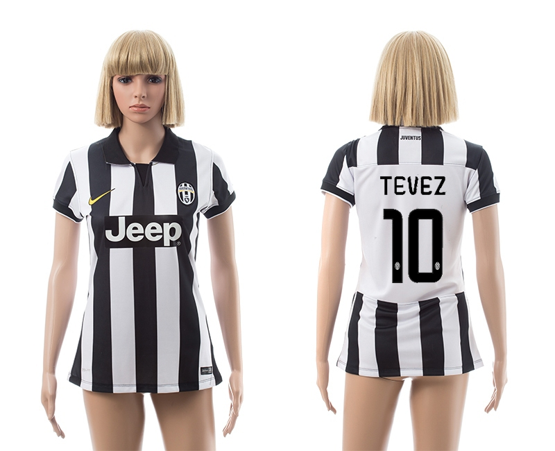 2014-15 Juventus 10 Tevez Home Women Jerseys