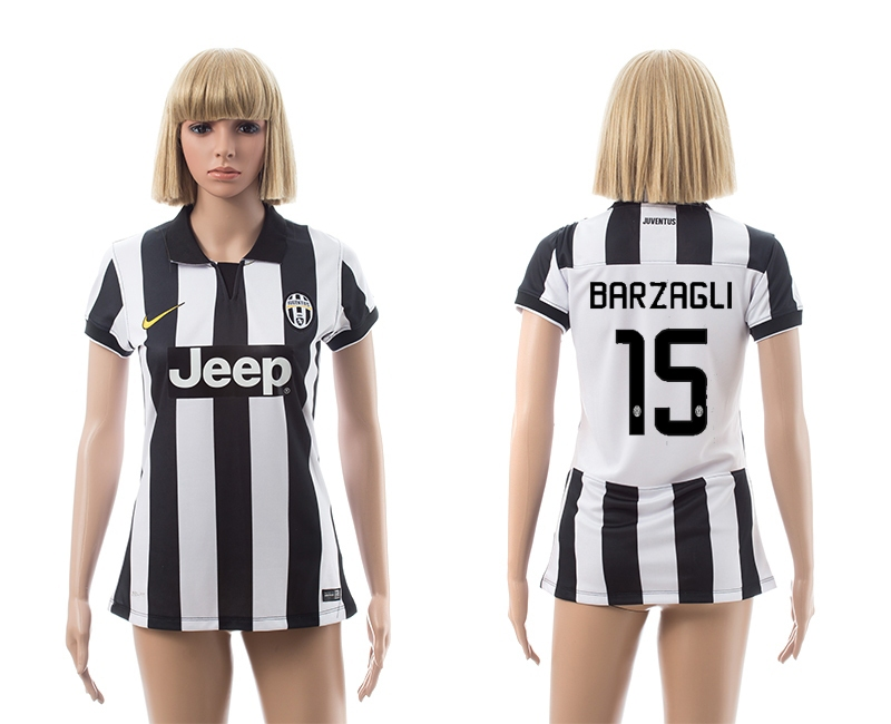 2014-15 Juventus 15 Barzagli Home Women Jerseys