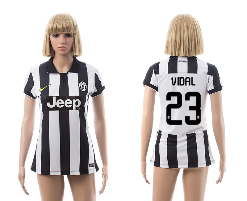 2014-15 Juventus 23 Vidal Home Women Jerseys