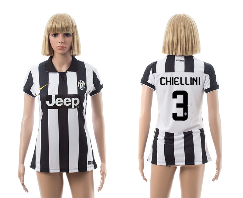 2014-15 Juventus 3 Chiellini Home Women Jerseys