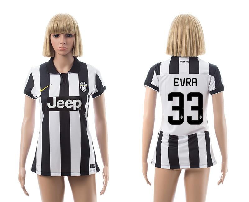 2014-15 Juventus 33 Evra Home Women Jerseys