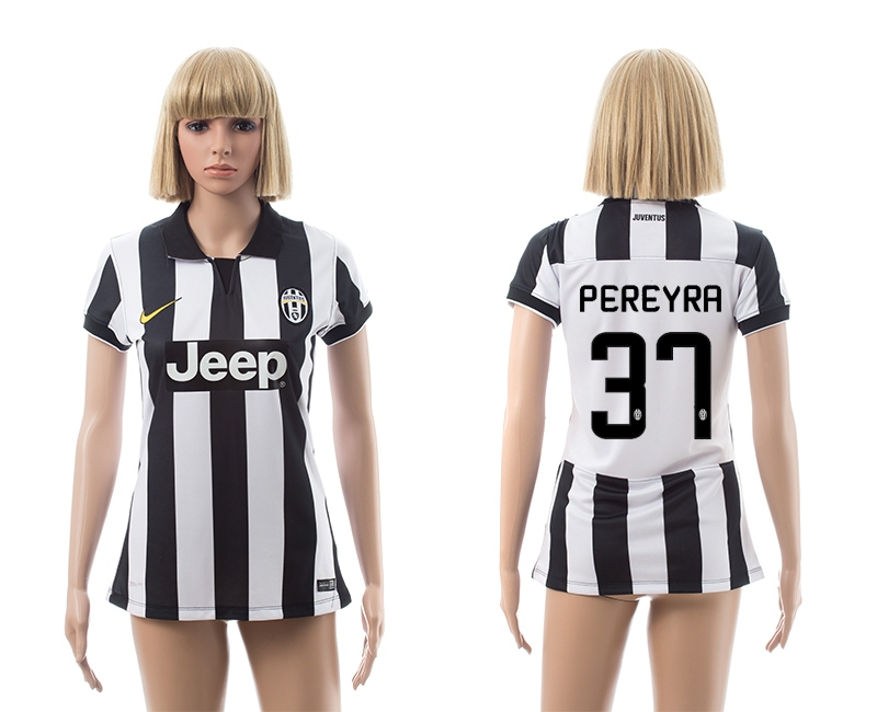 2014-15 Juventus 37 Pereyra Home Women Jerseys