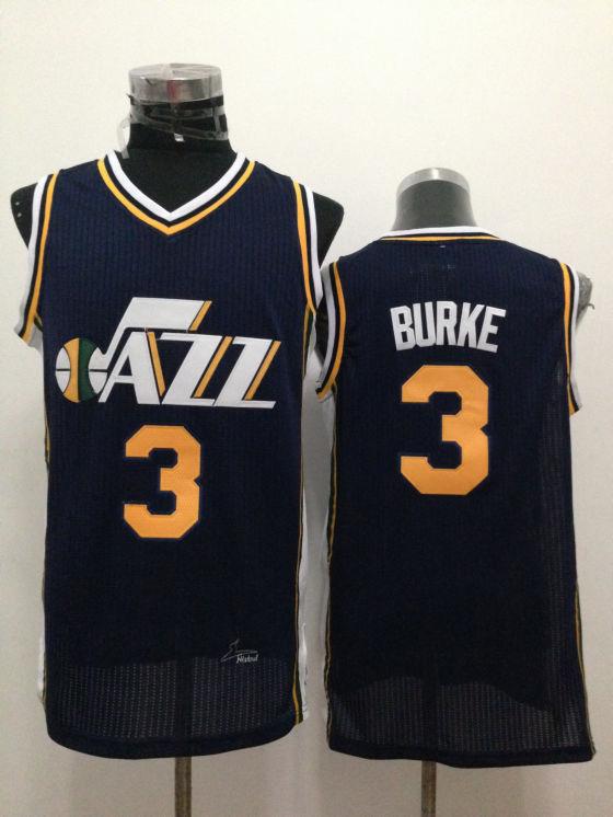 Jazz 3 Burke Navy Blue New Revolution 30 Jerseys
