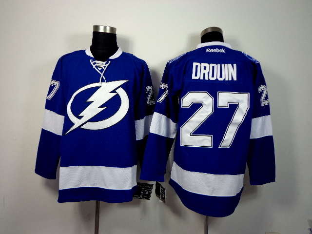 Lightning 27 Drouin Blue Jerseys