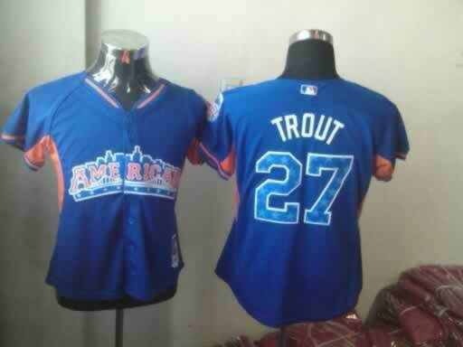 Angels 27 Trout Blue Blue 2013 All Star Jerseys