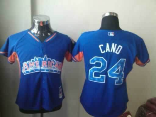 Yankees 24 Cano Blue Blue 2013 All Star Jerseys