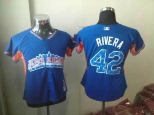 Yankees 42 Rivera Blue Blue 2013 All Star Jerseys