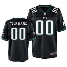 Nike Philadelphia Eagles Customized Elite black Jerseys
