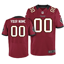Nike Tampa Bay Buccaneers Customized Elite red Jerseys