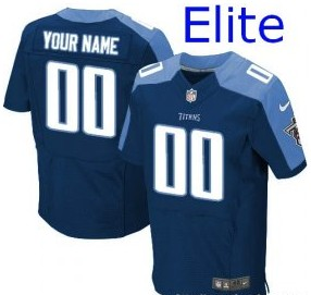 Nike Tennessee Titans Customized Elite Navy Jerseys
