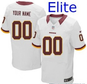 Nike Washington Redskins Customized Elite White Jerseys