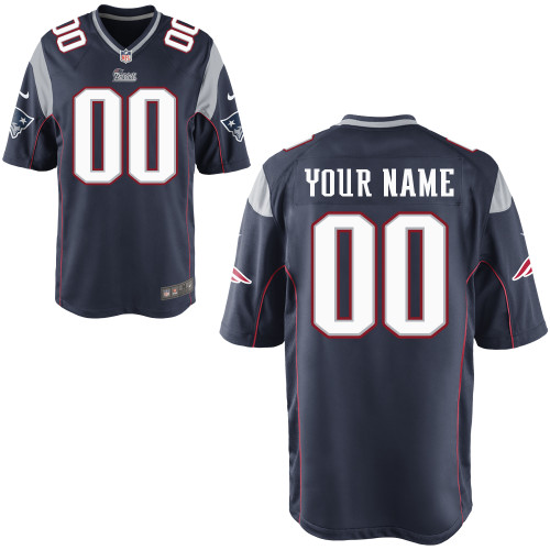Nike New England Patriots Customized Game Dark Blue Jerseys