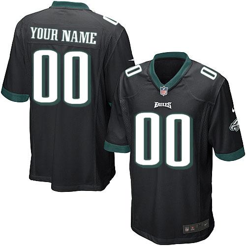 Nike Philadelphia Eagles Customized Game Black Jerseys