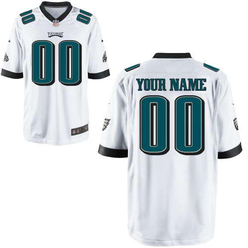 Nike Philadelphia Eagles Customized Game White Jerseys