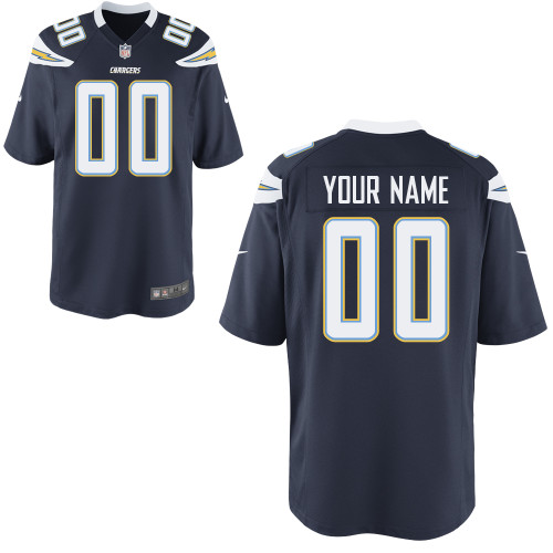 Nike San Diego Chargers Customized Game Dark Blue Jerseys