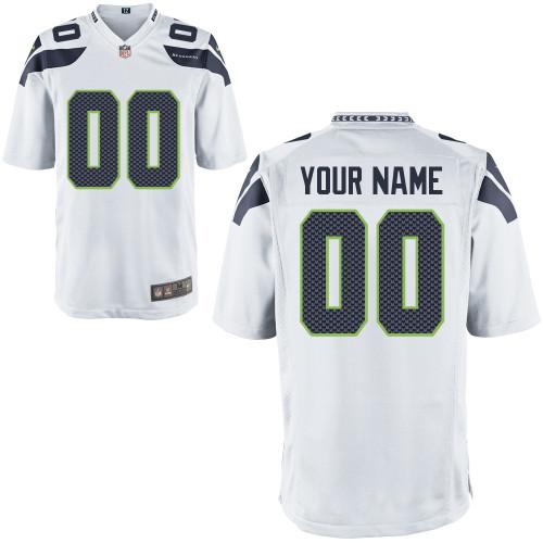 Nike Seattle Seahawks Customized Game White Jerseys