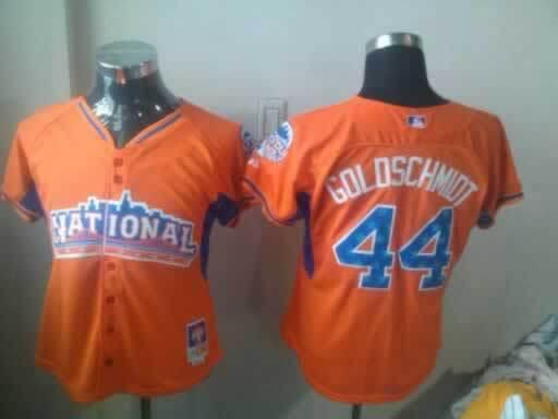 Diamondbacks 44 Goldschmidt Orange 2013 All Star Women Jerseys