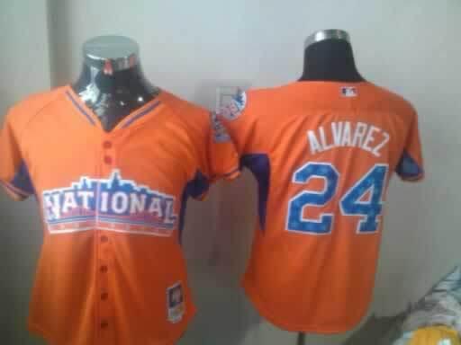 Pirates 24 Alvarez Orange Orange 2013 All Star Women Jerseys