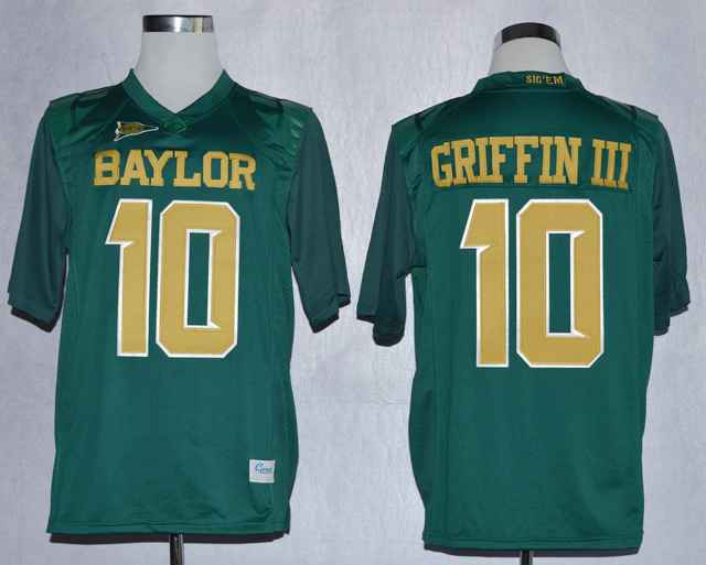 Baylor Bears Lache Rebort Griffin III 10 College Green Jerseys