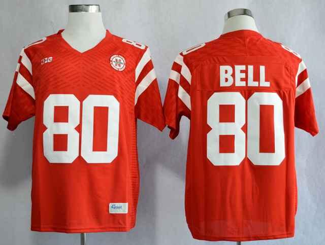 Nebraska Cornhuskers Kenny Bell 80 College Red Jersey