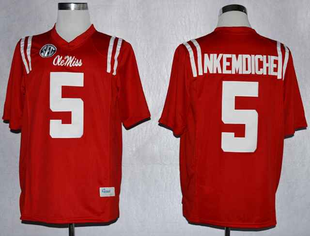 Ole Miss Rebels Robert Nkemdiche 5 College Red Jerseys