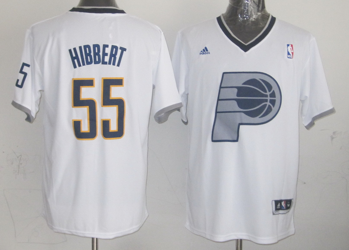 Pacers 55 Hibbert White Christmas Edition Jerseys