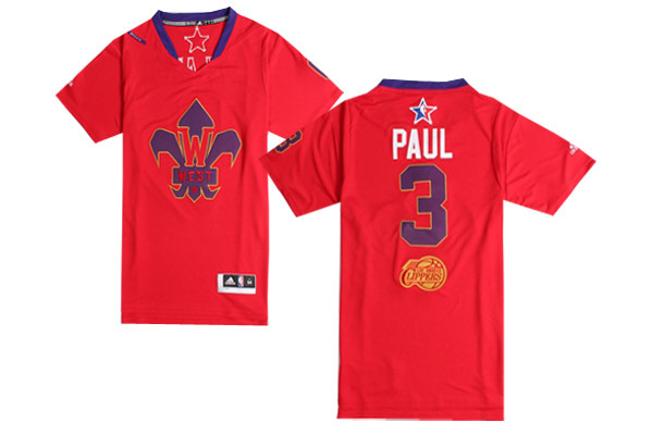 2014 All Star West 3 Paul Red Swingman Jerseys