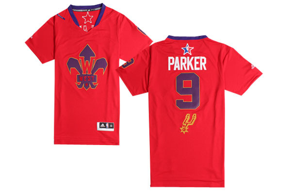 2014 All Star West 9 Parker Red Swingman Jerseys