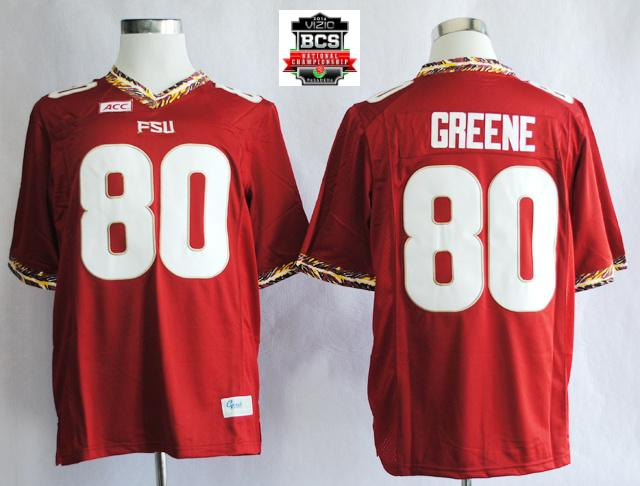 Florida State Seminoles (FSU) Rashad Greene 80 College Football Red Jerseys With 2014 BCS Patch
