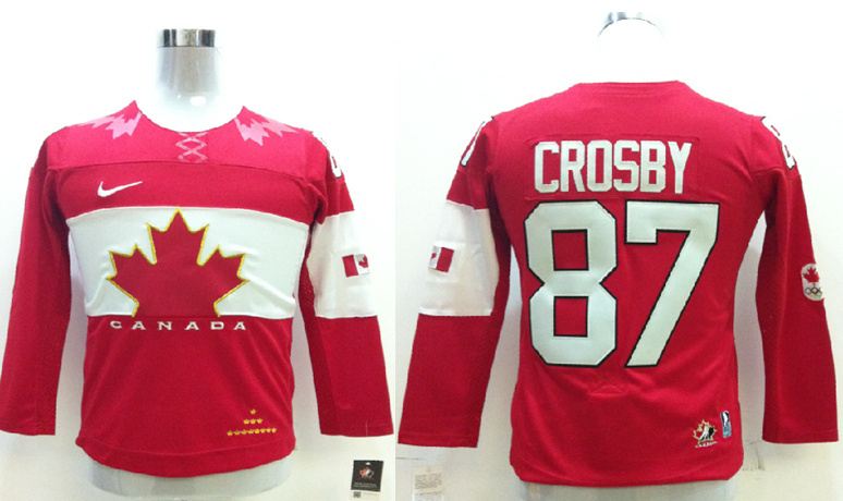 Canada 87 Crosby Red 2014 Olympics Kids Jerseys