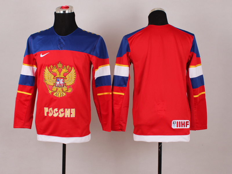 Russia Blank Red 2014 Olympics Kids Jerseys