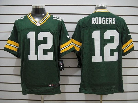 Nike Packers 12 Rodgers Green Elite Jerseys